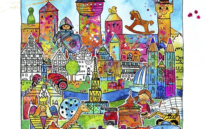 Neues Pop-Art Motiv – Nürnberg Spielzeugstadt