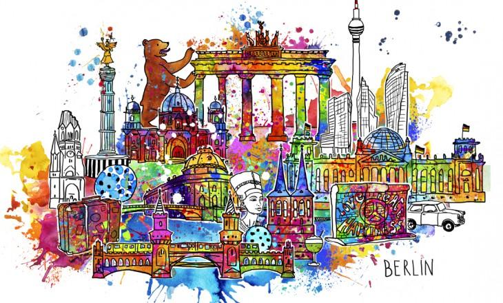 Neues Stadtmotiv: I love Berlin – poppig-bunte Hauptstadt von Birgit Osten