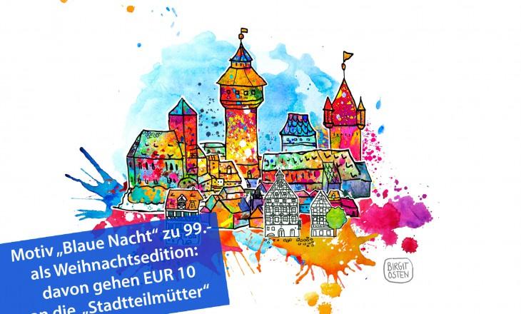 """Kunst schenken und Gutes tun – """"Blaue Nacht"""" (2D) als Weihnachtsedition"""