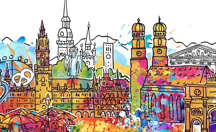 """""""I love München"""" Birgit Ostens Art Skyline jetzt auch für München"""