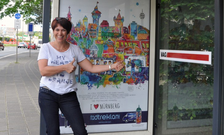 """""""I love Nürnberg"""" Plakate der Stadtreklame"""