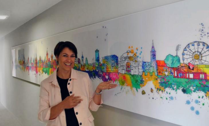 Nürnberg-Kunst im Großformat – Birgit Ostens individuelle Skyline