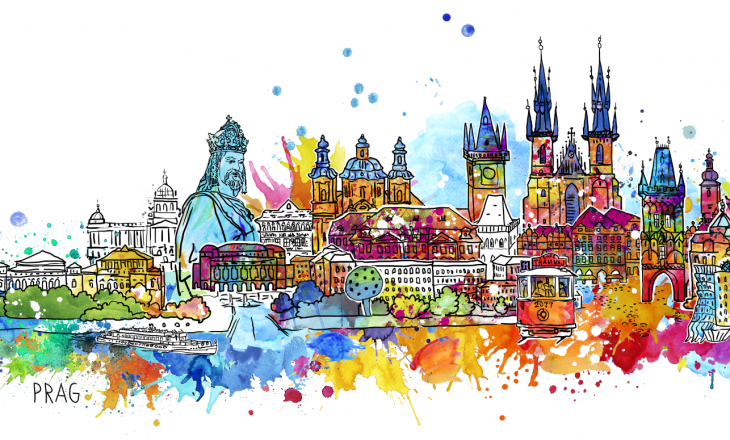 "Happy Skyline – ""I love Prag"""