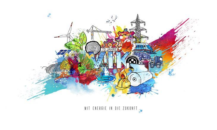 Kunst für VIK Energieverband Berlin – Birgit Osten gestaltet Leitmotiv für Jahrestagung