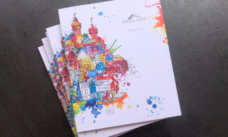 Kunst für Jubiläum Kanzlei Munkert & Partner – Firmengeschichte innovativ sichtbar machen!